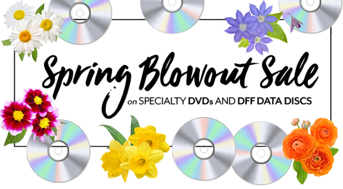 Spring Blowout Sale - Specialty DVD & DFF data discs